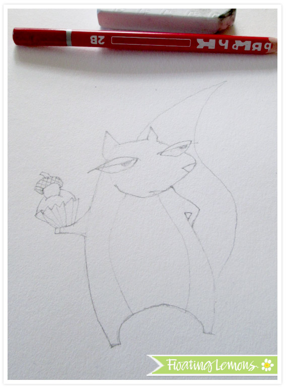 Grumpy squirrel sketch by floating lemons