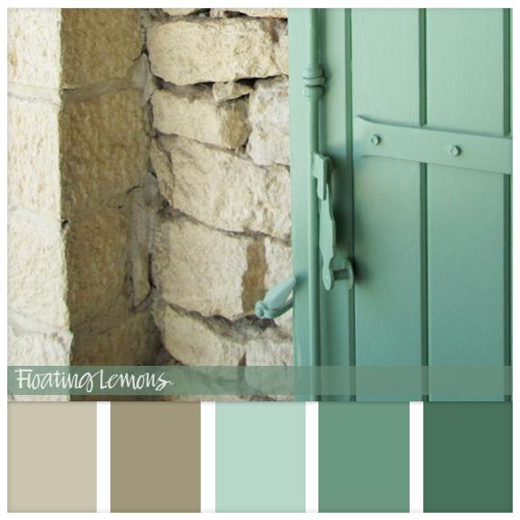 Provencal stone wood hues