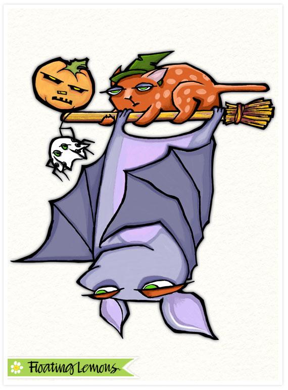 Grouchy bat halloween final