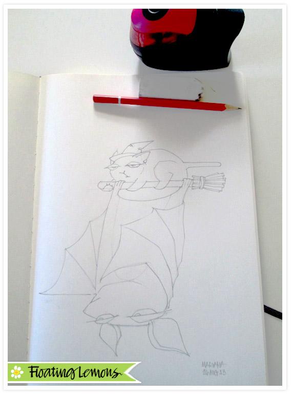 Grouchy-bat-halloween-sketch