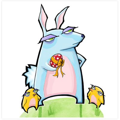 Grouchy rabbit easter 3