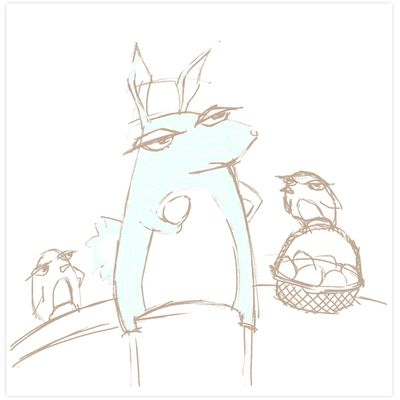 Grouchy rabbit easter 1