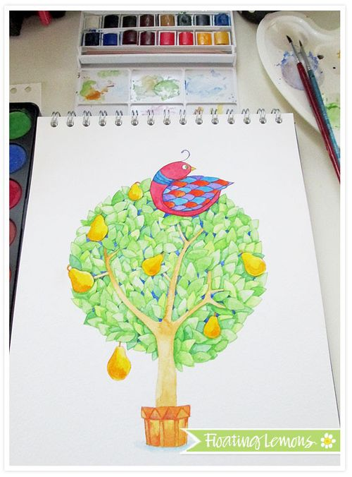 partridge in a pear tree progress 2