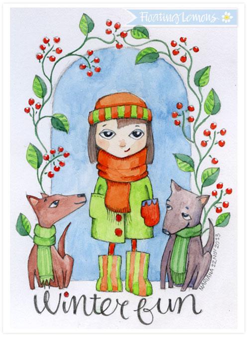 Winter-fun-illustration-floating-lemons
