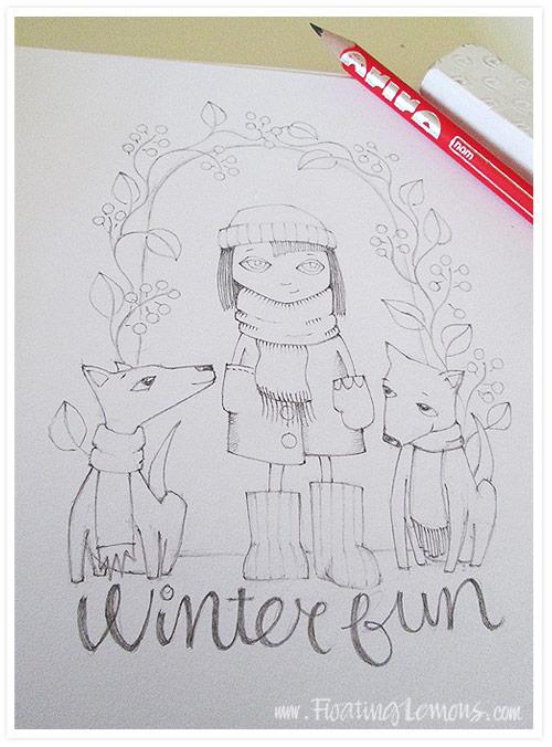 Winter-fun-sketch-floating-lemons