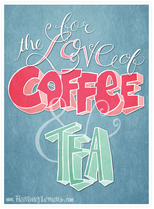 Love-coffee-tea-blue-typography