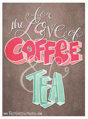Love-coffee-tea-brown-typography