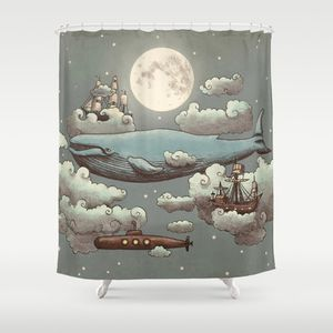 Ocean Meets Sky Terry Fan Shower Curtain Society6