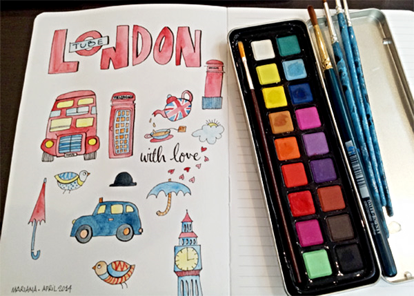 London-Doodles-by-Floating-Lemons