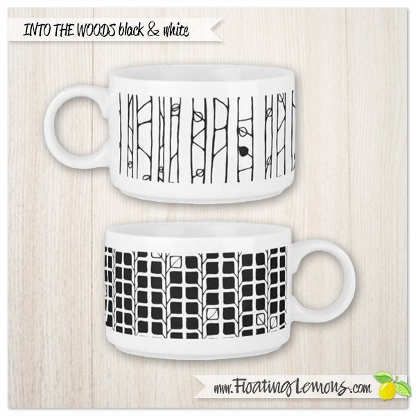 Into-the-Woods-black-white-chili-mugs-by-Floating-Lemons