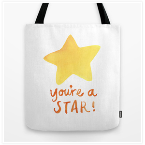 Youre a Star Tote Bag by Floating Lemons