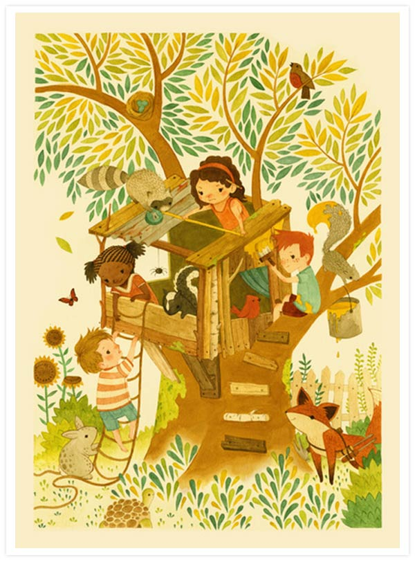 Our House in the Woods by Teagan White
