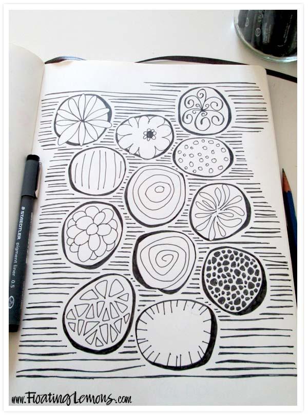 Organic blobs by floating lemons