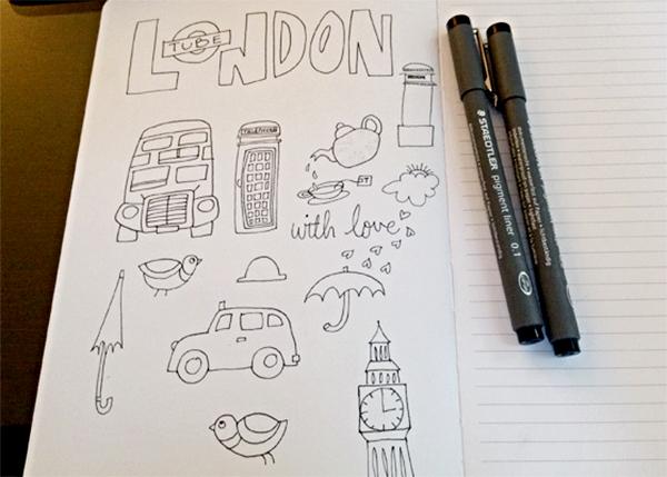 London-Doodles-sketch-by-Floating-Lemons