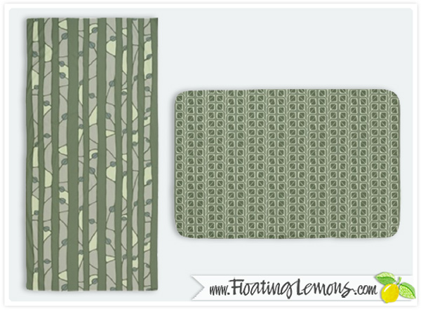 Into-the-Woods-green-towel-bathmat-by-Floating-Lemons