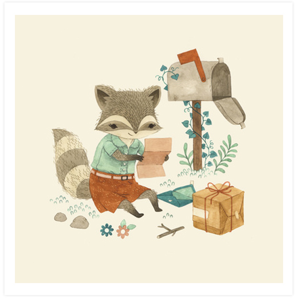 Racoon Post by Teagan White