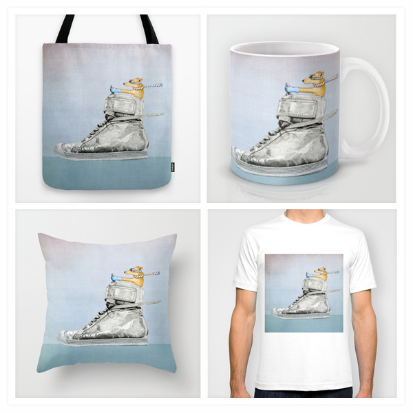 Dog-Driving-Shoe-Floating-Lemons-Society6