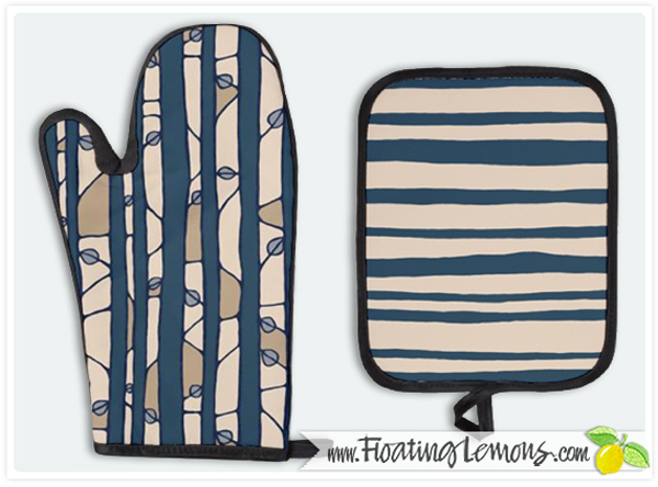 Into-the-Woods-blue-oven-glove-potholder-by-Floating-Lemons