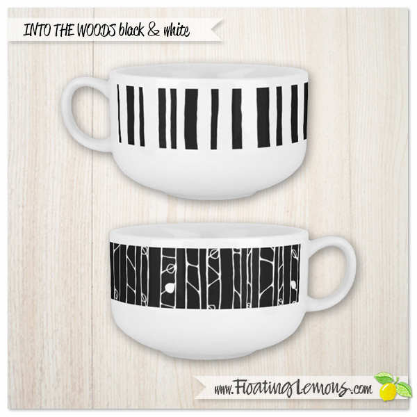 Into-the-Woods-black-white-soup-mugs-by-Floating-Lemons