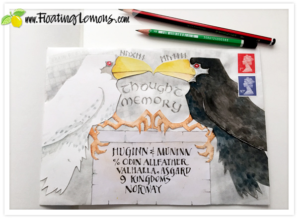 Huginn-and-Muninn-Envelope-Art-1-by-FLoating-Lemons