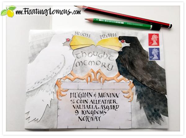 Huginn-and-Muninn-Envelope-Art-1-by-FLoating-Lemons