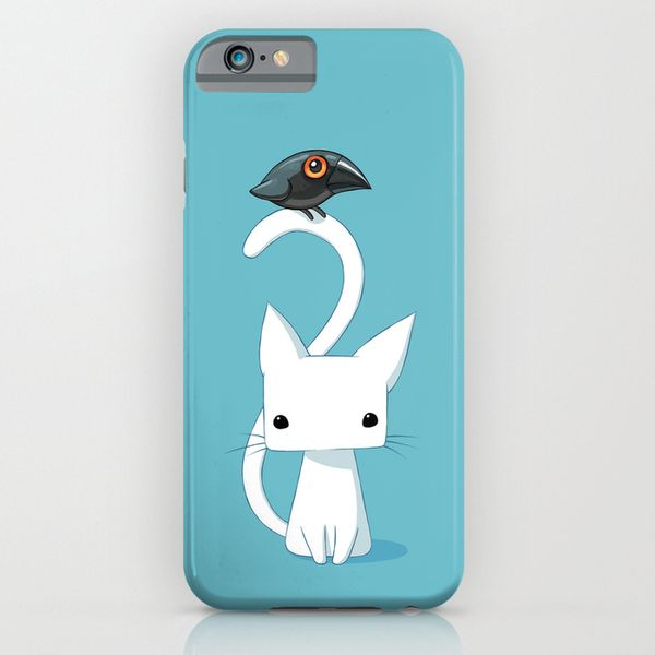 Cat and Raven iPhone 6 Case by Freeminds