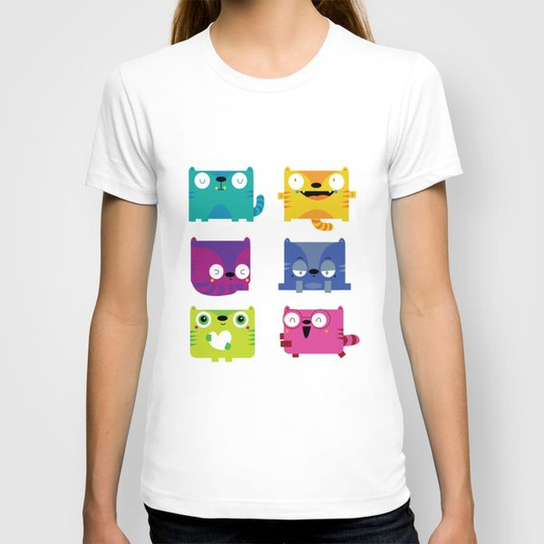 Cats T-shirt by Maria Jose Da Luz