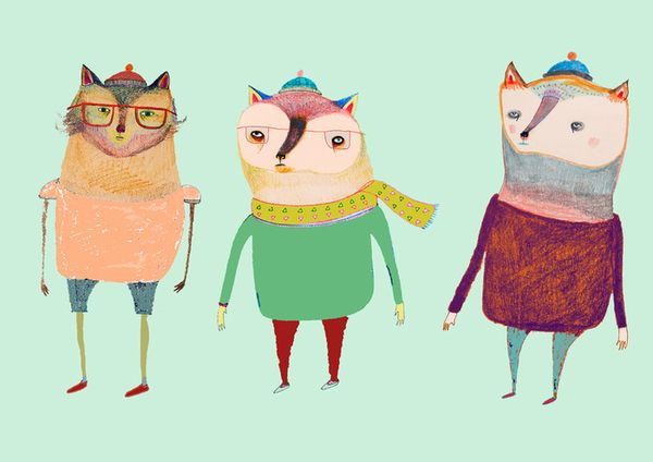 The Cats Art Print by Ashley Percival Illustrator