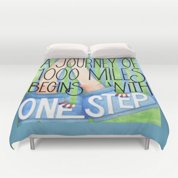 A Journey of 1000 Miles Duvet Cover Society6