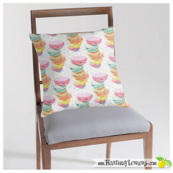 Macarons-Throw-Pillow-by-Floating-Lemons-for-Redbubble