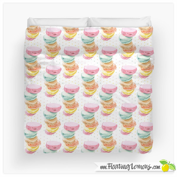 Macarons-Duvet-Cover-by-Floating-Lemons-for-Redbubble