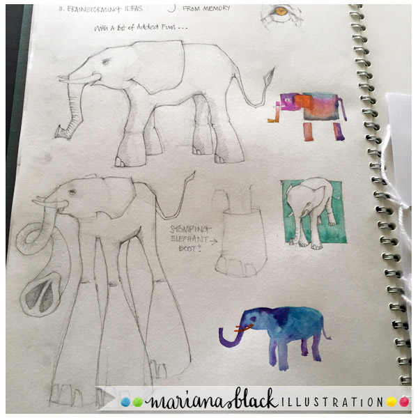Elephant-sketches-by-Mariana-Black-Illustration