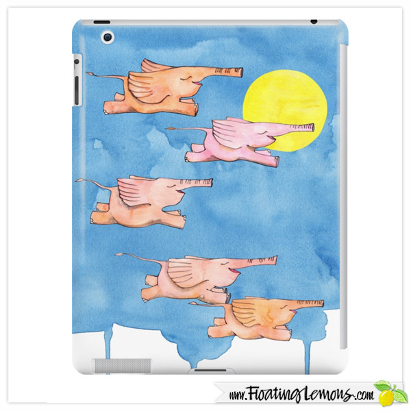 Flying-Elephants-iPad-Case-by-Floating-Lemons-for-Red-Bubble