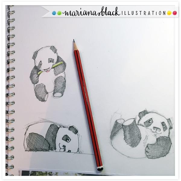 Panda-Sketches by Mariana Black