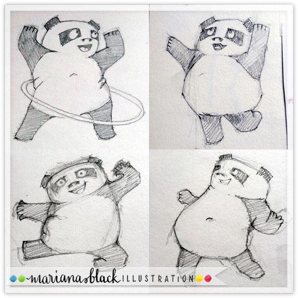 Pandas at Play 2 by Mariana Black