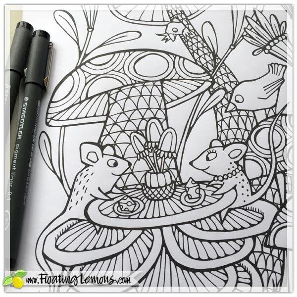 Bird-Mouse-Mushrooms-by-Floating-Lemons