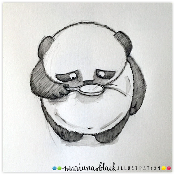 Panda-magnifying-by-Mariana-Black