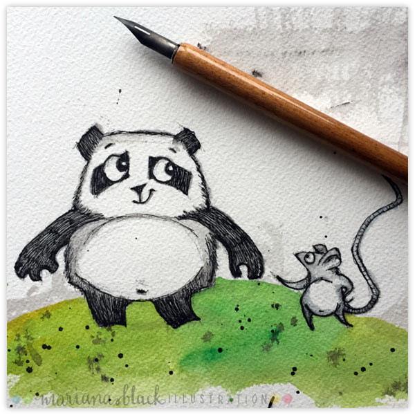 Pen-and-Ink-Panda-by-Mariana-Black