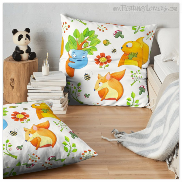 Woodland-Fun-Floor-Cushion-by-Floating-Lemons