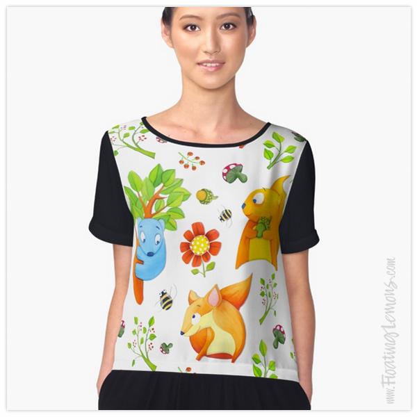 Woodland-Fun-Chiffon-Top-by-Floating-Lemons