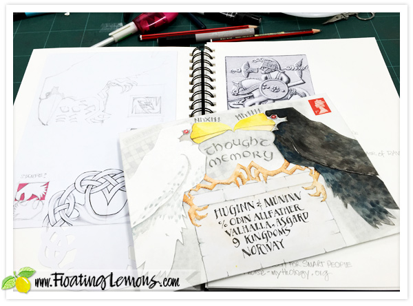 Huginn-and-Muninn-Envelope-Art-2-by-FLoating-Lemons