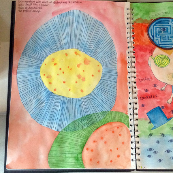 Neuroscience sketchbook 1 by Floating-Lemons
