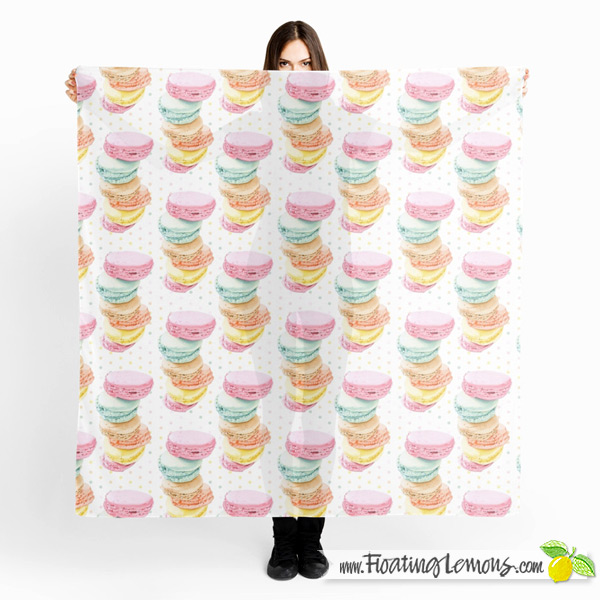 Macarons Scarf by Floating Lemons
