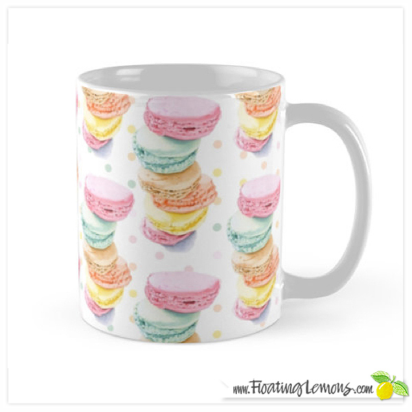 Macarons-Mug-by-Floating-Lemons-for-Redbubble
