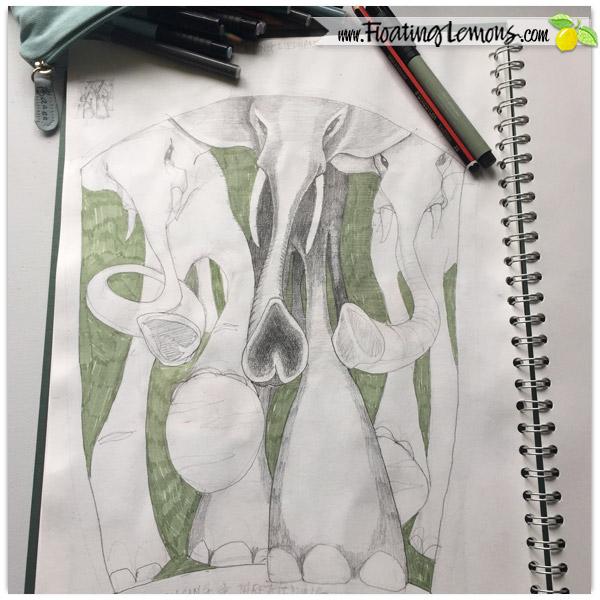 Elephants-Sketch