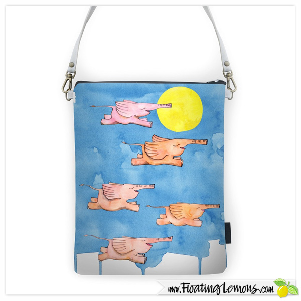 Flying-Elephants-Sling-Bag-by-Floating-Lemons-for-Creative-United