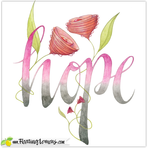 HOPE typography by Floating Lemons