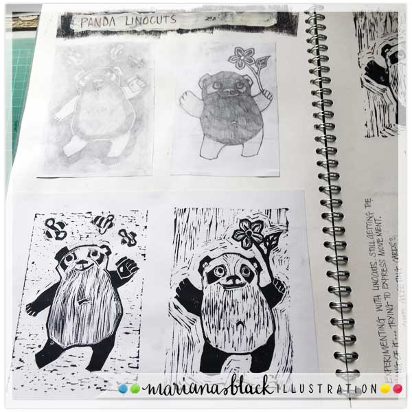 Playful Panda Prints by Mariana Black 2