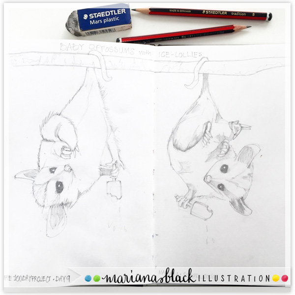 Baby-Opossums-and-Ice-Lollies-sketch-by-Mariana-Black