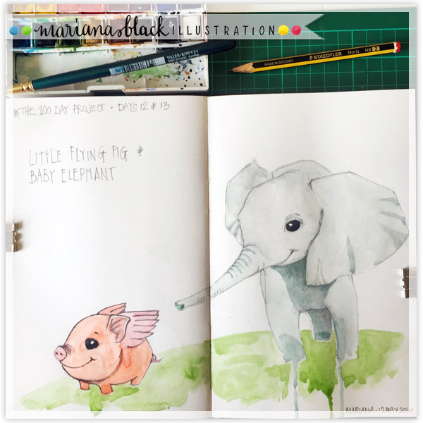 12&13-Flying-Pig-&-Baby-Elephant